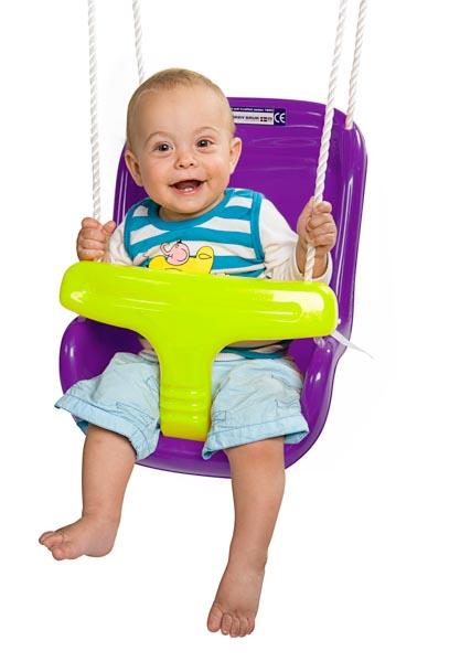 נדנדה תלויה לתינוק בצבע סגול