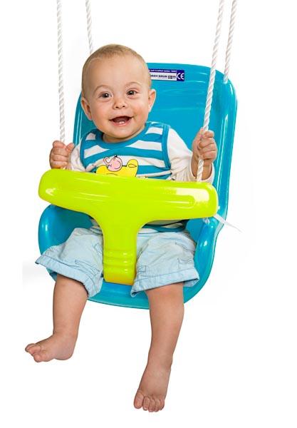 נדנדה תלויה לתינוק בצבע תכלת
