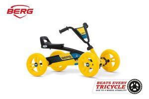 מכונית פדלים לילדים דגם Buzzy Yellow של חברת BERG בצבע צהוב