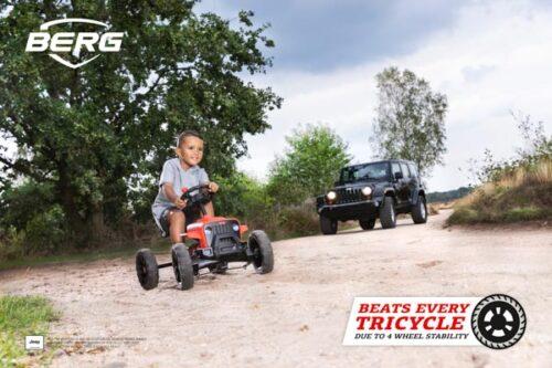 מכונית פדלים לילדים דגם Buzzy Jeep Rubicon של חברת BERG מהולנד