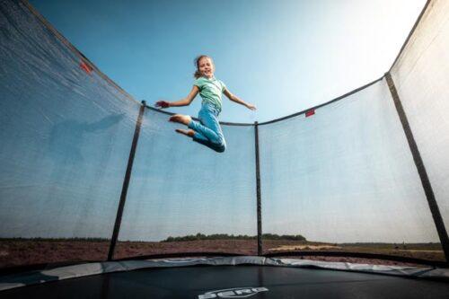 טרמפולינה אובלית של חברת BERG מהולנד 3.10 על 4.7 מטר אפור