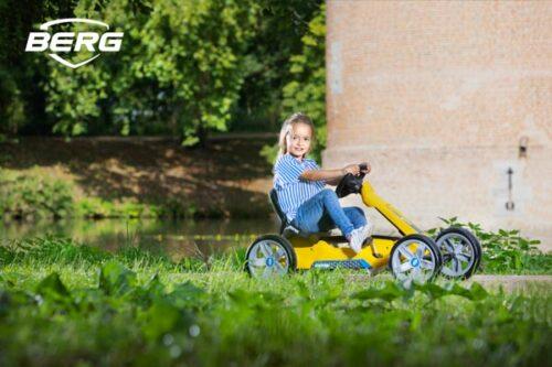 מכונית פדלים לילדים דגם Reppy yellow של חברת BERG מהולנד בצבע צהוב